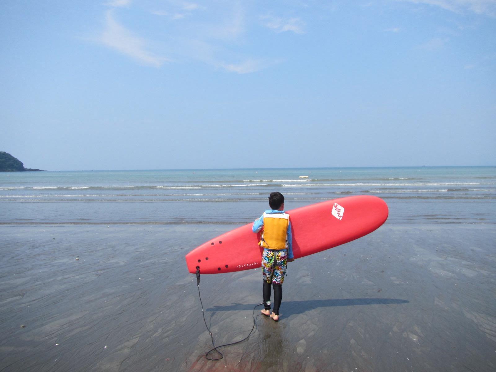 子供とサーフィン